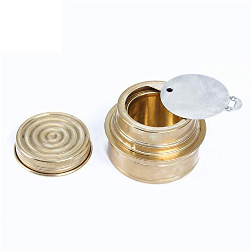 Portable Copper Alcohol Stove Mini Ultra-light Spirit Burner Gas Stoves for Outdoor Camping Pinnic Roast Food Fornello Ad Alcol Yeyoucoc