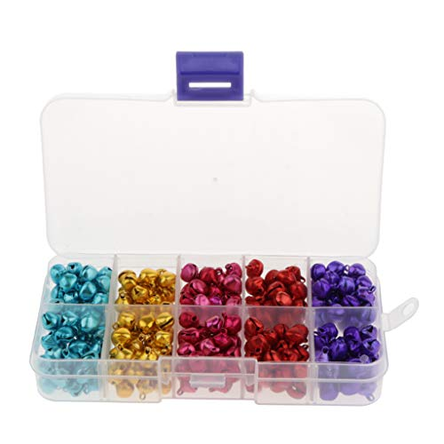 MagiDeal 300x Colored Metal Jingle Bells Christmas Jewelry Findings Bells Charms