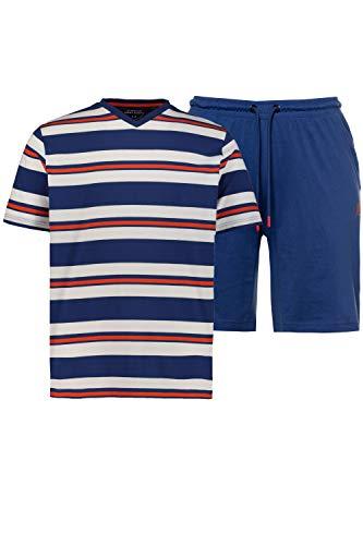 JP 1880 Herren große Größen Schlafanzug, kurz Indigo 6XL 726616 72-6XL