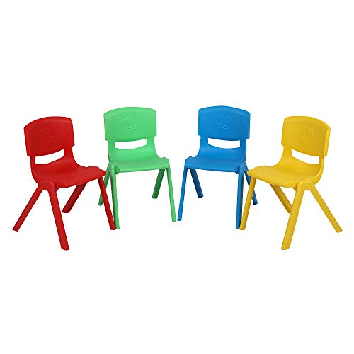 JOYMOR 12 inch Stackable School Chairs for Kids Plastic Classroom Chairs Indoor Outdoor Kids Chairs for Home Preschool Daycare Center