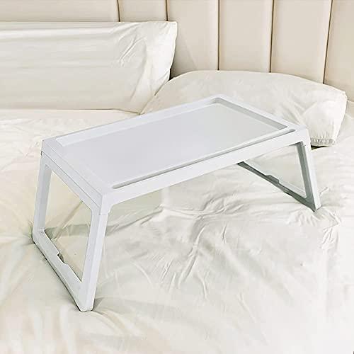 MQJ - Tavolo pieghevole, leggero, portatile, piccolo tavolo da pranzo, semplice per la casa, per bambini, per imparare il computer, colore: bianco