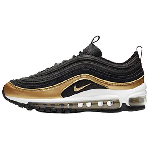 Nike Air Max 97 (Gs) - Black/metallic Gold, Größe:4.5Y