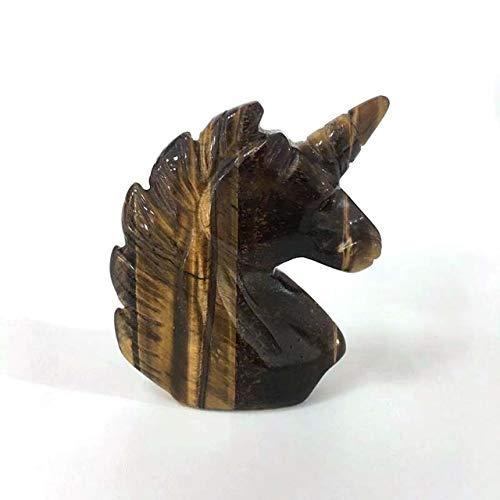 Geist Kristalle, Natur Opal Hand Geschnitzte Steinpferdekopf-Form-Kristall Chakra Healing Aura Heilkristalle for Dekoration, Ornamente Geschenk (Size : 2.5 inches, Style : E)