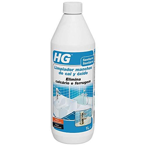 HG Limpiador Manchas de Cal y Óxido, para Elimina la Cal en el Cuarto de Baño – Seguro para Todos los Materiales en el Baño – Ultrapotente, 1000 Mililitros