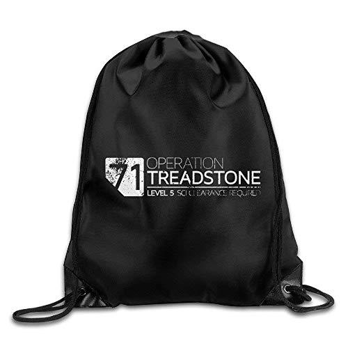 htrewtregregre Unisex Bourne 5 Spy 2016 Operation Treadstone Sports Drawstring Backpack Kordelzug Paket
