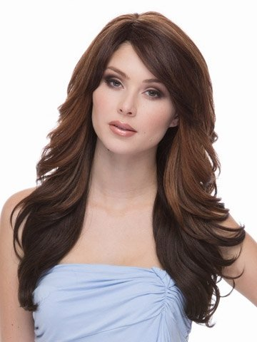 GLYYR Frauen Perücken Perücken für Elegante intellektuelle Dame Mode Big Wave Perücken Natürliche menschliche Perücken mit Verstellbarer Perücke
