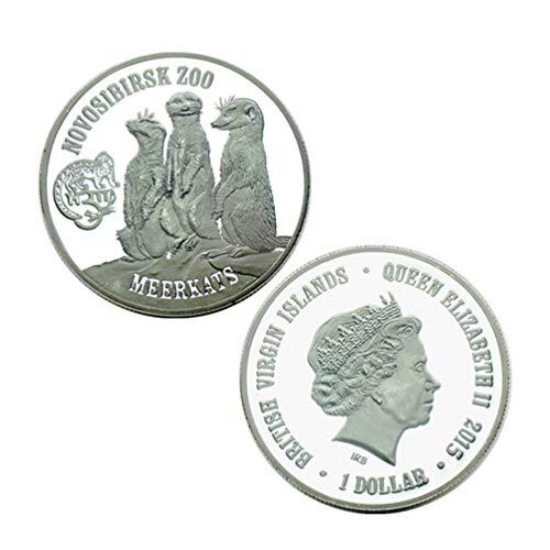 アフリカの動物ミーアキャット記念コインギフトコレクションコイン記念コレクションアニマル銀貨