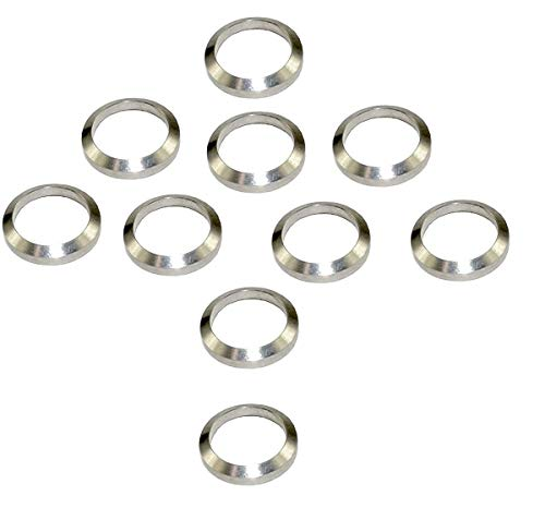 Affordable Ahlmanstr Stainless Crush Washer 1/2 X28 Thread Steel Silvery Crush Washer 10 Pcs Pack