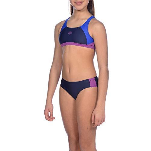 ARENA Mädchen Sport Bikini Ren, Navy-Neon Blue-provenza, 128