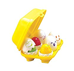 MORE THAN A HIDE & SEEK GAME - The popular toddler's educational toy comes with 6 different eggs and funny facial expressions. Crack them open to reveal 6 different colours that your little one can identify and match FUN SHAPE SORTER - This learning ...