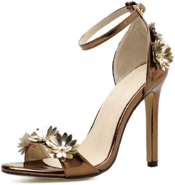 Sandalen Europische Schnheit Lackleder Mode 11Cm Sexy Nachtclub Goldfarbenen Sandalen