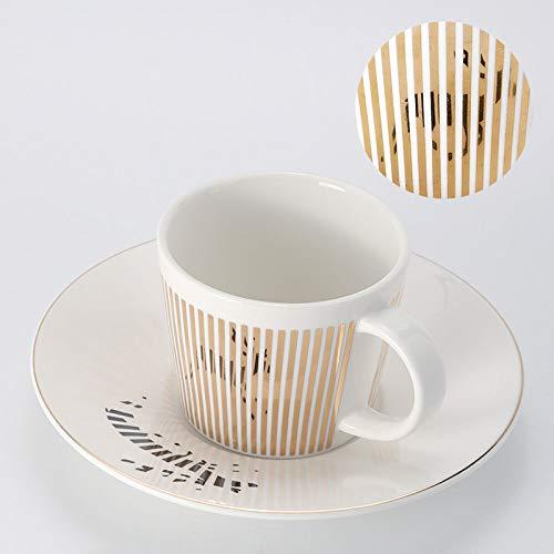 Kaffeetassen Mug,230Ml Keramik Kreativ Dynamische Reflexion Spiegel Goldrand Hirsch Tier Mit Griff Untertasse Wiederverwendbare Tee Milch Espressotasse Geschenk Für Mutter Frauen Ehemann Freund Kind
