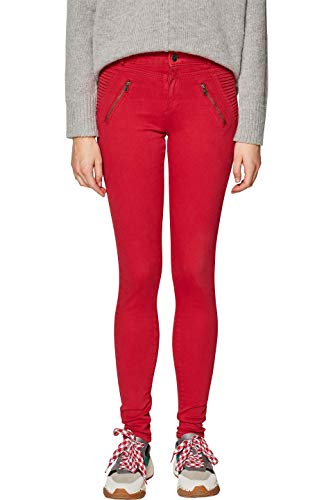 ESPRIT Damen 128EE1B022 Hose, Rot (Red 630), W34/L32