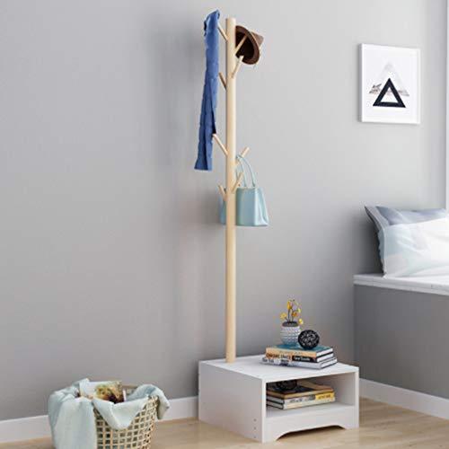 XQAQX Coat Kleerhangers voor slaapkamer, massief hout, creatieve kleerhangers + kast voor garage, foyer bedroom Office 170 cm (H)