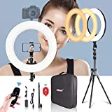 Best Ring Light For Canon 7ds - Emart 18-inch Ring Light with Stand, Big Adjustable Review