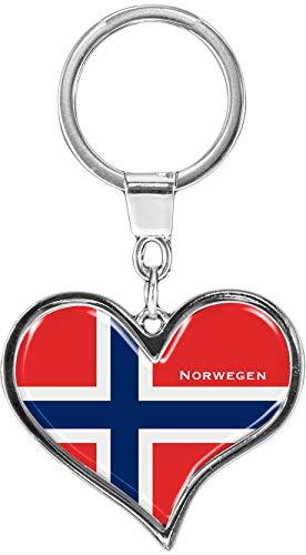 metALUm Llavero de Metal/Bandera la Noruega / 6611021S