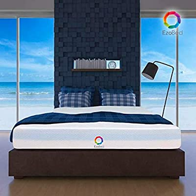 """10"""" EzoBed Cool Memory Foam Mattress 10-inch Height Gel-Infused Medium-Firm CertiPUR-US Certified Foam for Pain Relief"""