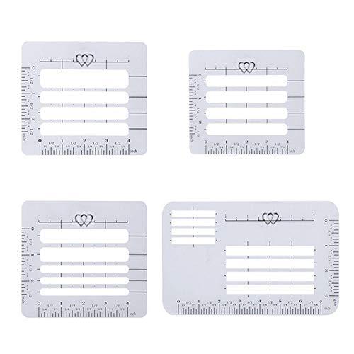 Uooker 4 estilos de sobres guía de dirección plantillas de ayuda de letras, regla guía recta para sobres, costura, álbumes de recortes, manualidades, tarjetas de felicitación de cumpleaños de Navidad