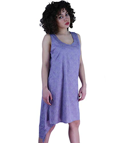 Induswelt damesjurk zomerjurk maat 38-46 asymmetrisch 2-laags kaftan tuniek oversize look sering