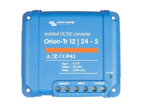 Victron Energy ORI122410110 Orion-Tr 12/24-5A 120W Isolated DC Konverter, 12-24V 5A (120W)