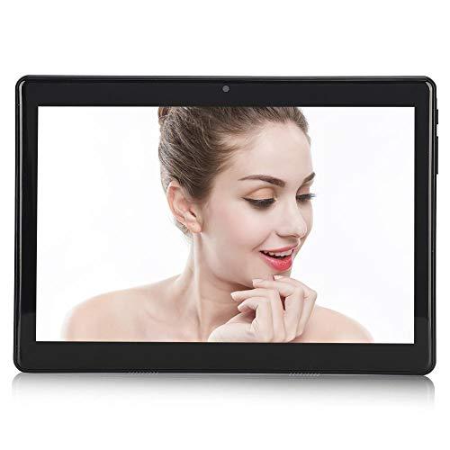 Tableta de 10.1 pulgadas Tabletas de teléfono 3G Android 7.0 con 32GB de almacenamiento,Cámara de 5MP con tarjeta Dual Sim,con pantalla IPS de cuatro núcleos 800x1280,soporte para llamadas 3g (Negro)