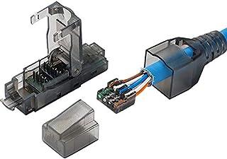 كابلات وموصلات للحاسوب VINTO-- تصميم ممتاز في ألمانيا - مقبس حقل محمي RJ45 STP - موصل إنهاء RJ45 لـCat.6/6A، كابل توصيل Ca...