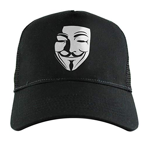 Cloud City 7 Shadow Mask V for Vendetta Anonymous, Trucker Cap