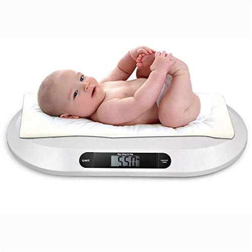Baby-Waage Großes LCD-Display Automatische Abschaltung Rutschfesten Digitale kinder-Waage mit Überlastanzeige Niedrigleistungsanzeige Weiß
