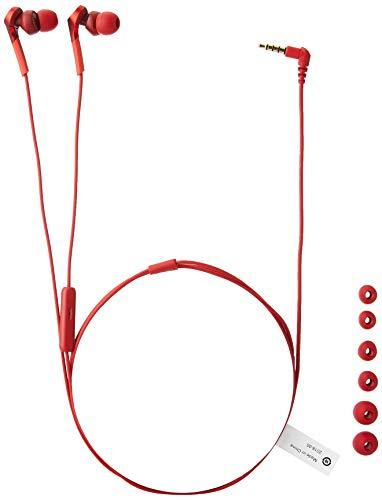 Fones de ouvido Audio-Technica Solid Bass in-Ear, Vermelho, Adjustable