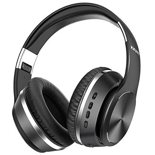 KKUYI Noise Cancelling koptelefoon, draadloze Bluetooth 5.0 koptelefoon, over-ear, kabelloze ANC hoofdtelefoon met microfoon, diepe bass, 25 uur Speelduur, perfect voor telefoons, pc-tv.