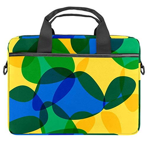 Laptop Bag Brazil Yellow Green Notebook Sleeve with Handle 13.4-14.5 inches Carrying Shoulder Bag Briefcase