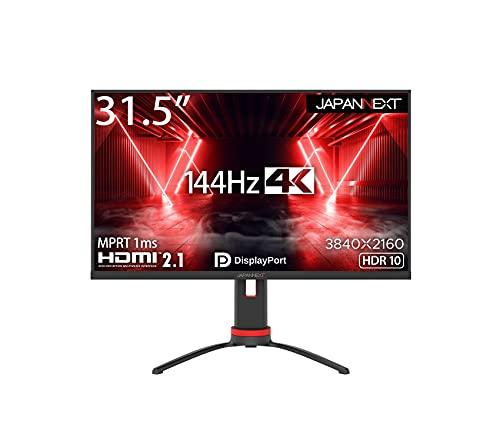 JAPANNEXT HDMI 2.1対応 31.5型 144Hz対応4Kゲーミングモニター JN-315IPS144UHDR
