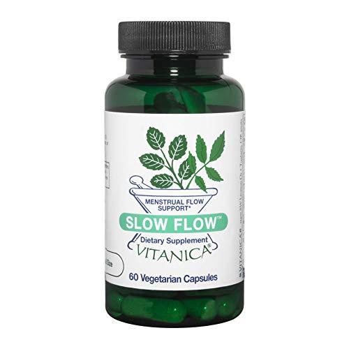 Vitanica Slow Flow, Menstrual Flow Support, Vegan/Vegetarian, 60 Capsules