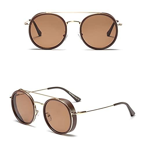 ShSnnwrl Único Gafas de Sol Sunglasses Gafas De Sol Redondas Retro para Mujer Gafas De Sol Steampunk para Mujer Gafas De Sol De D