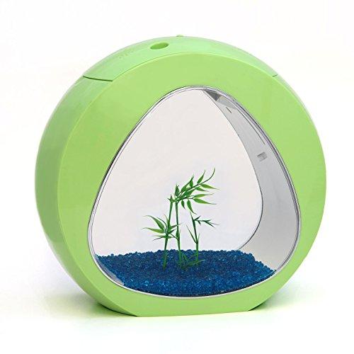 Allpondsolutions Nano Curve Aquarium, koud water, tropisch, LED-verlichting, 13,5 liter, limoengroen