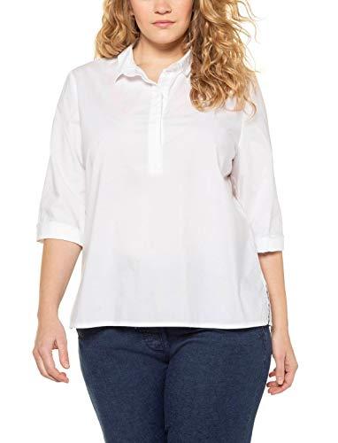 Ulla Popken damska bluzka w dużych rozmiarach z prążkowanymi detalami