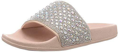 Skechers Damen Pantoletten/Badeschuhe PO UPS Femme Glam Rosa/Silber, Schuhgröße:EUR 38