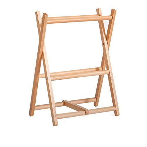 Zapatero plegable japonés de madera maciza multicapa simple puerta moderna dormitorio de madera simple zapatillas, a – 3 niveles 67 cm