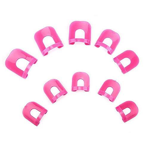 Ogquaton Manicura Cubierta antidesbordamiento Cubierta para los dedos Protector de uñas Protector de esmalte Herramienta Protector de manicura Ajustar todas las uñas con diferentes tamaños 26 pcs
