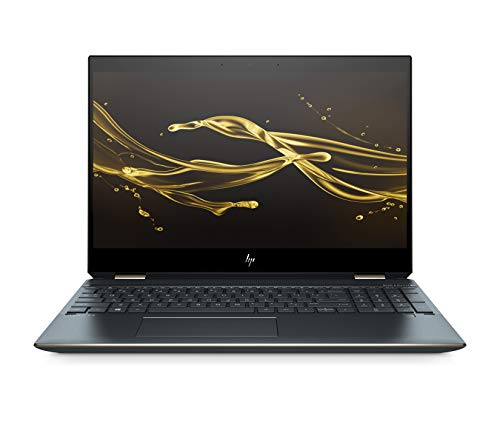 HP Spectre x360 15-df0106ng (15,6 Zoll/ UHD Touchscreen) Convertible Laptop (Intel Core i7-8565U quad, 16GB DDR RAM, 512GB SSD, NVIDIA GeForce MX150, Windows 10 Home) schwarz/Dunkle grau