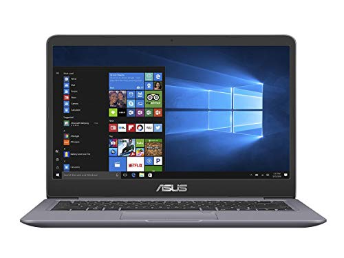 Asus Vivobook S410UA-BV216R Notebook con Monitor 14' HD No Glare, Intel Core Core I5-8250U, RAM 8 GB, SSD 256 GB, Grey Metal