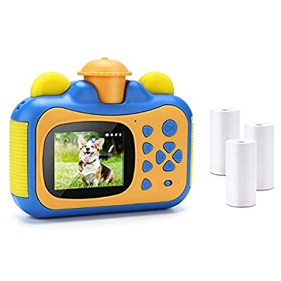 Tuneway Portable Instant Print Camera Toy Camera with Print Paper Digital Print Camera Birthday Gift for Kids-Blue from Tuneway