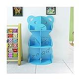 Biblioteca para niños, estantería de estilo de dibujos animados, estantería para bebés, esquina de lectura para pequeños soñadores (color azul cielo)