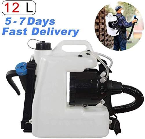 CARLAMPCR Portátil Desinfección eléctrica pulverizador, 12 L Pulverizador Eléctrico ULV Mochila para...