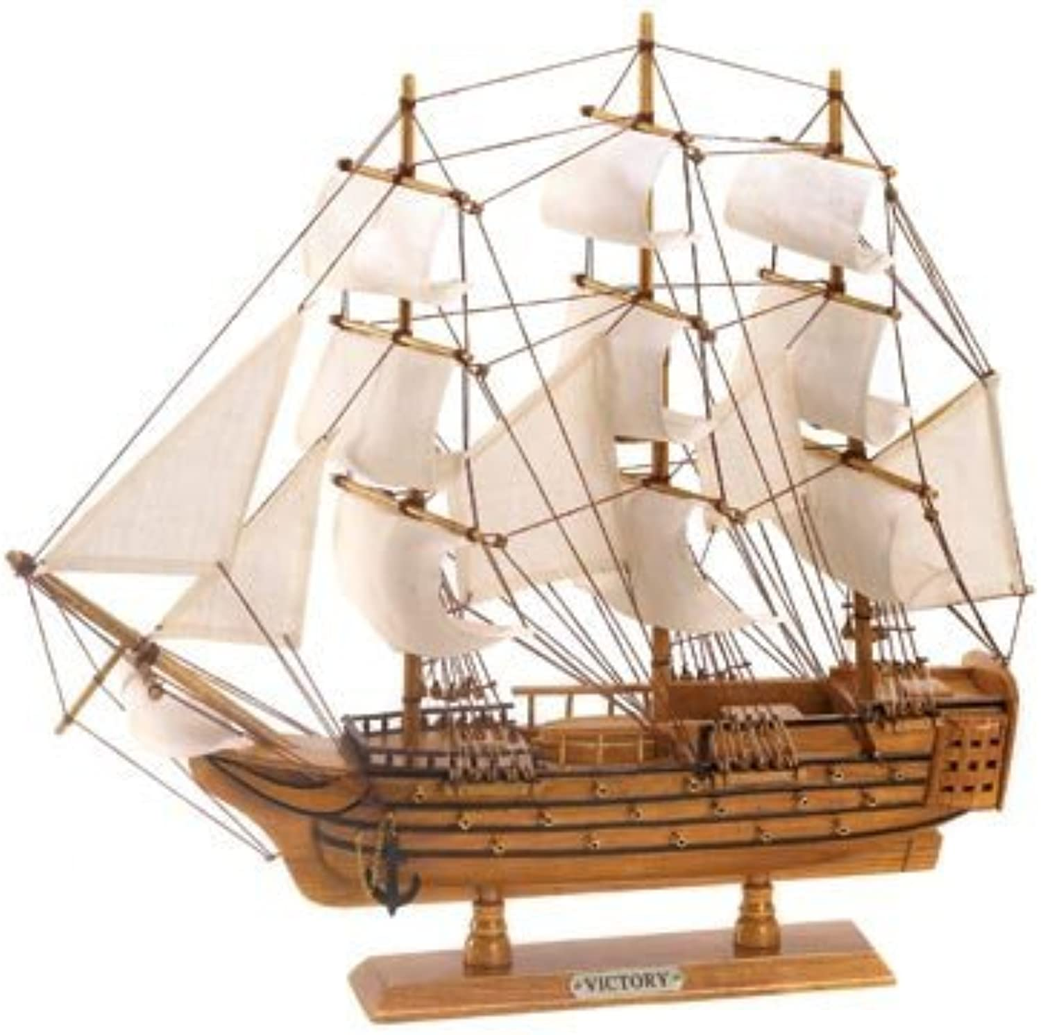 Obtén lo ultimo Hms Victory Ship Model Lifelike Schooner Nautical Boat by by by Furniture Creations  mas preferencial