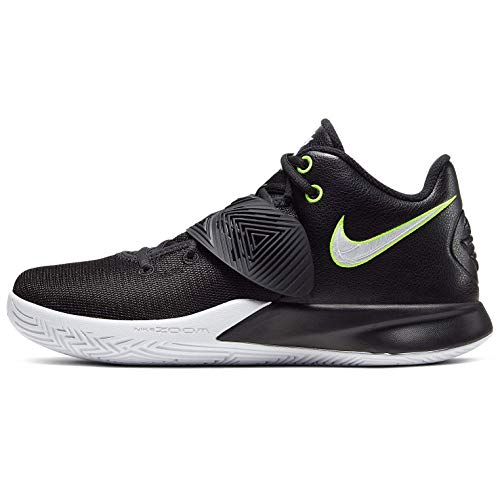 Nike Mens Kyrie Flytrap III Basketball Shoe, Black/White-Volt, 45 EU