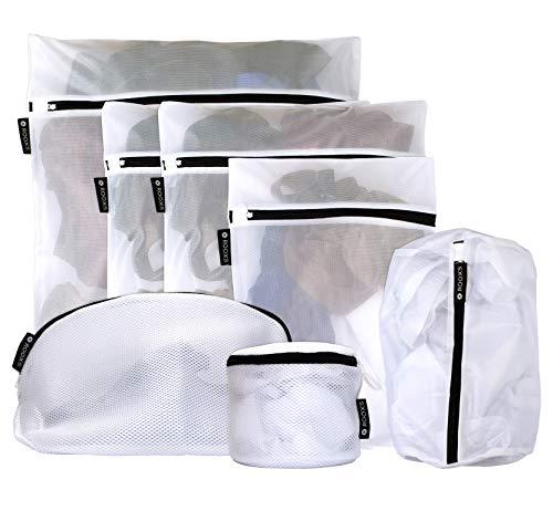 Rooxs Profi Wäschesack (7er Set) Wäschenetz für Waschmaschine