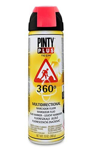 Pinty Plus 250 - Pintura spray marcador fluor, 650cc, Rojo
