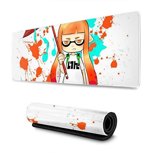 Extra Large Mouse Pad -Ink War Inkling Splatoon Desk Mousepad - 31.5'''' X 11.8''''X0.12''(3mm Thick)- XL Protective Keyboard Desk Mouse Mat for Computer/Laptop