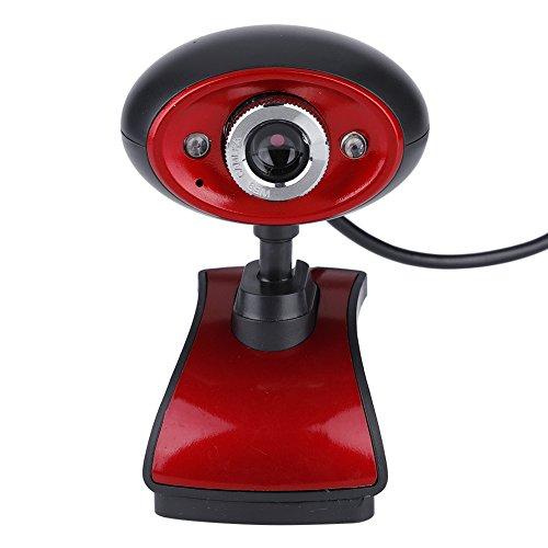 Richer R HD Webcam Hochauflosend 1080P HD USB 20 PC Webcam 2 LED Nachtsicht Web CamPlug and Play USB Webkamera Videoaufzeichnung mit Mikrofon fur Netmeeting ICQ MSN Yahoo Messenger Skype